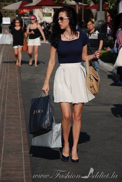 Spotted! Shopping at The Grove ~ A chic way to wear polkadots