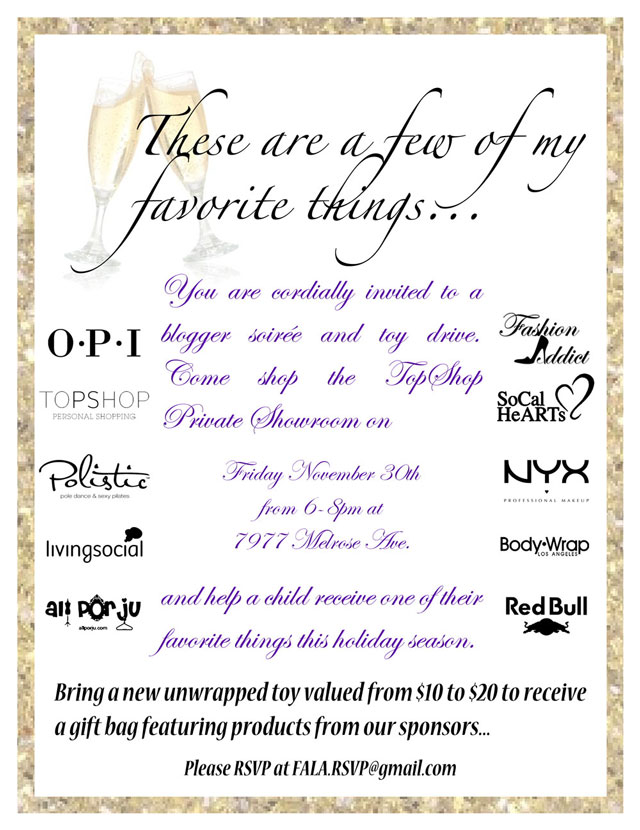 TopShop Toy Drive