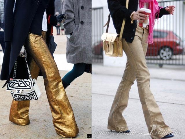 DIY gold Jeans