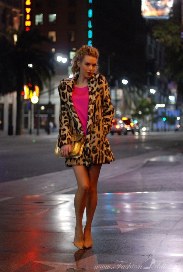 BEBE Leopard Coat