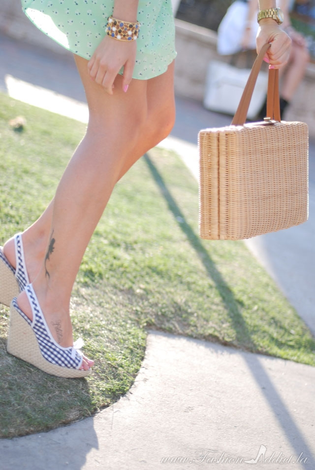 gingham shoes