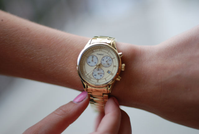 Timex Gold Dress Chronograph