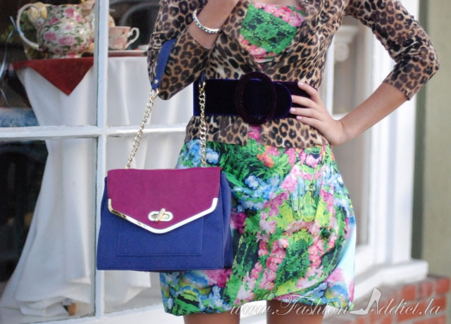 Olivia and Joy pink and purple bag