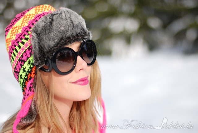 Neon snow hat