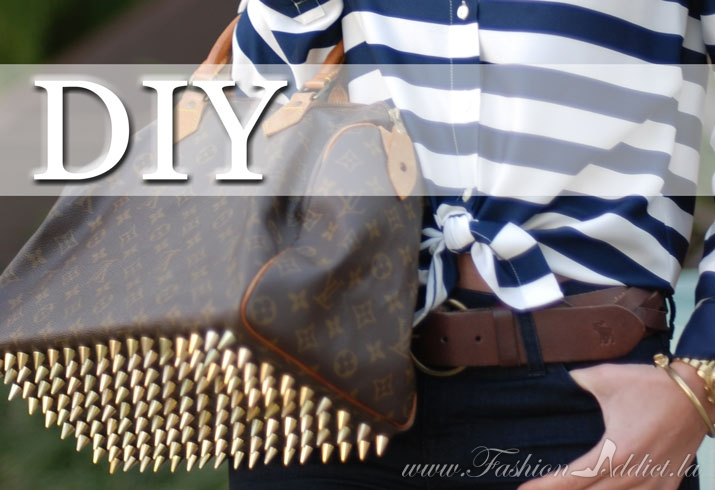DIY Spiked Bottom Louis Vuitton Speedy Bag