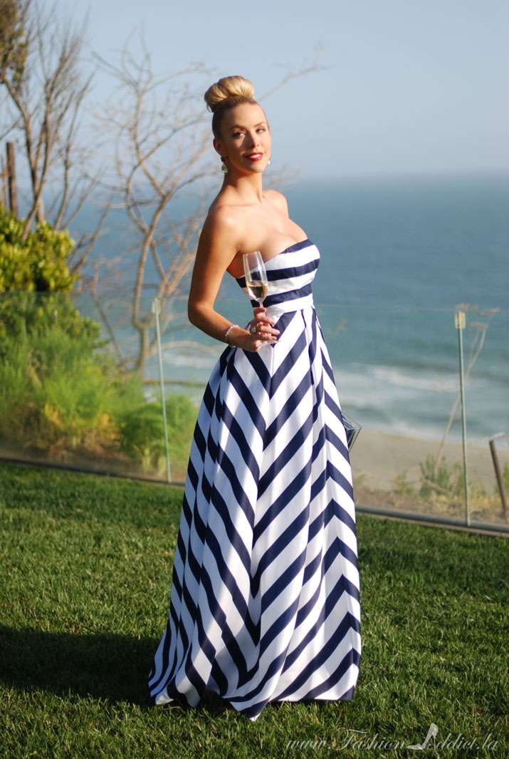 Jessica Simpson Striped Gown