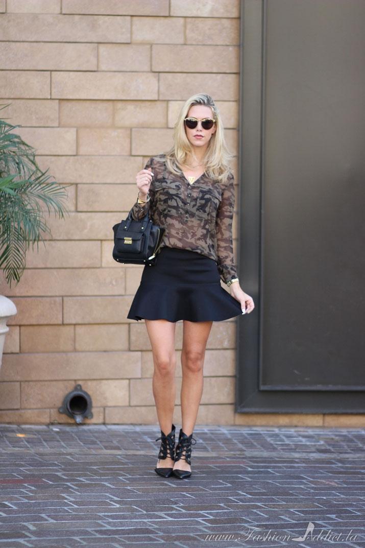 Kier Mellour in Camouflage on Fashion Addict Blog in LA