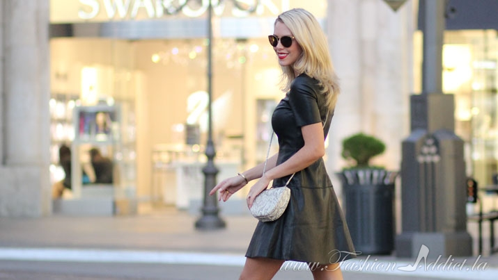 The Leather T Shirt Dress