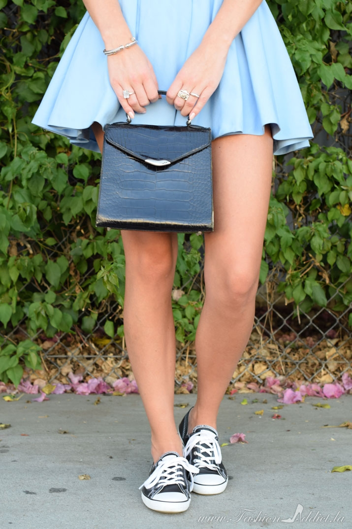 Powder-blue skirt and sneakers-3