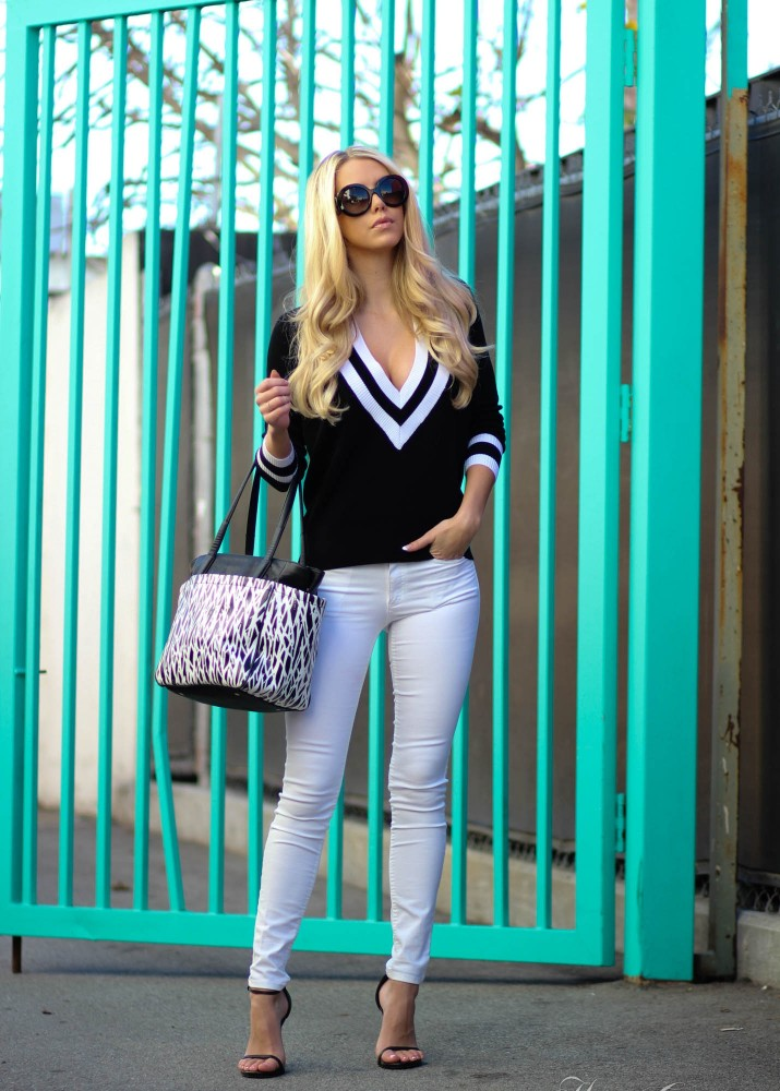 3 Ways to Wear the Black and White Athletic Trend