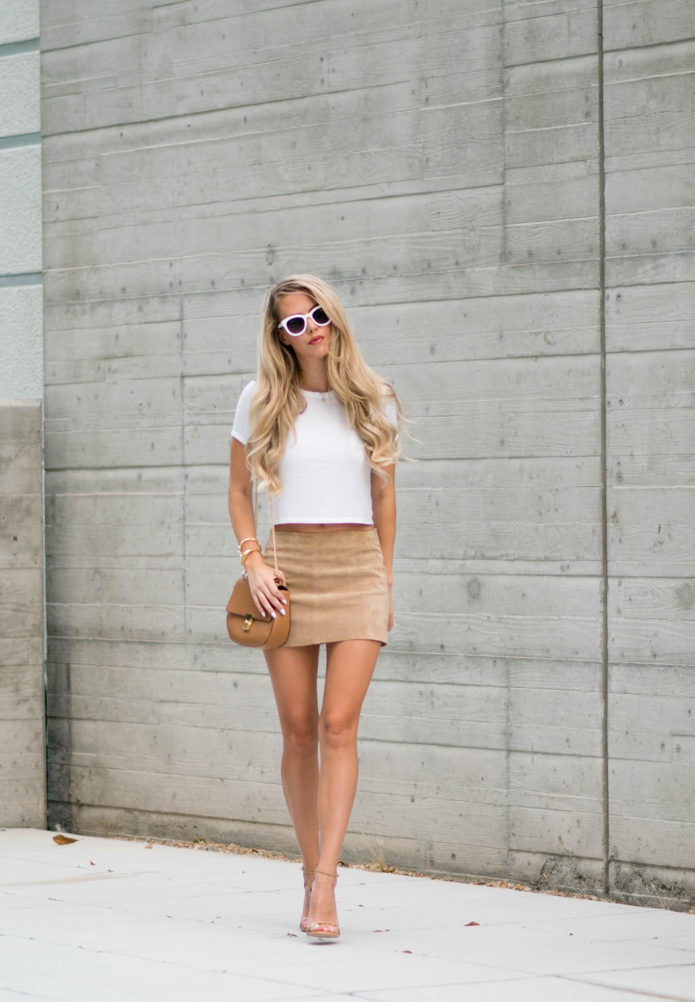 suede-mini skirt