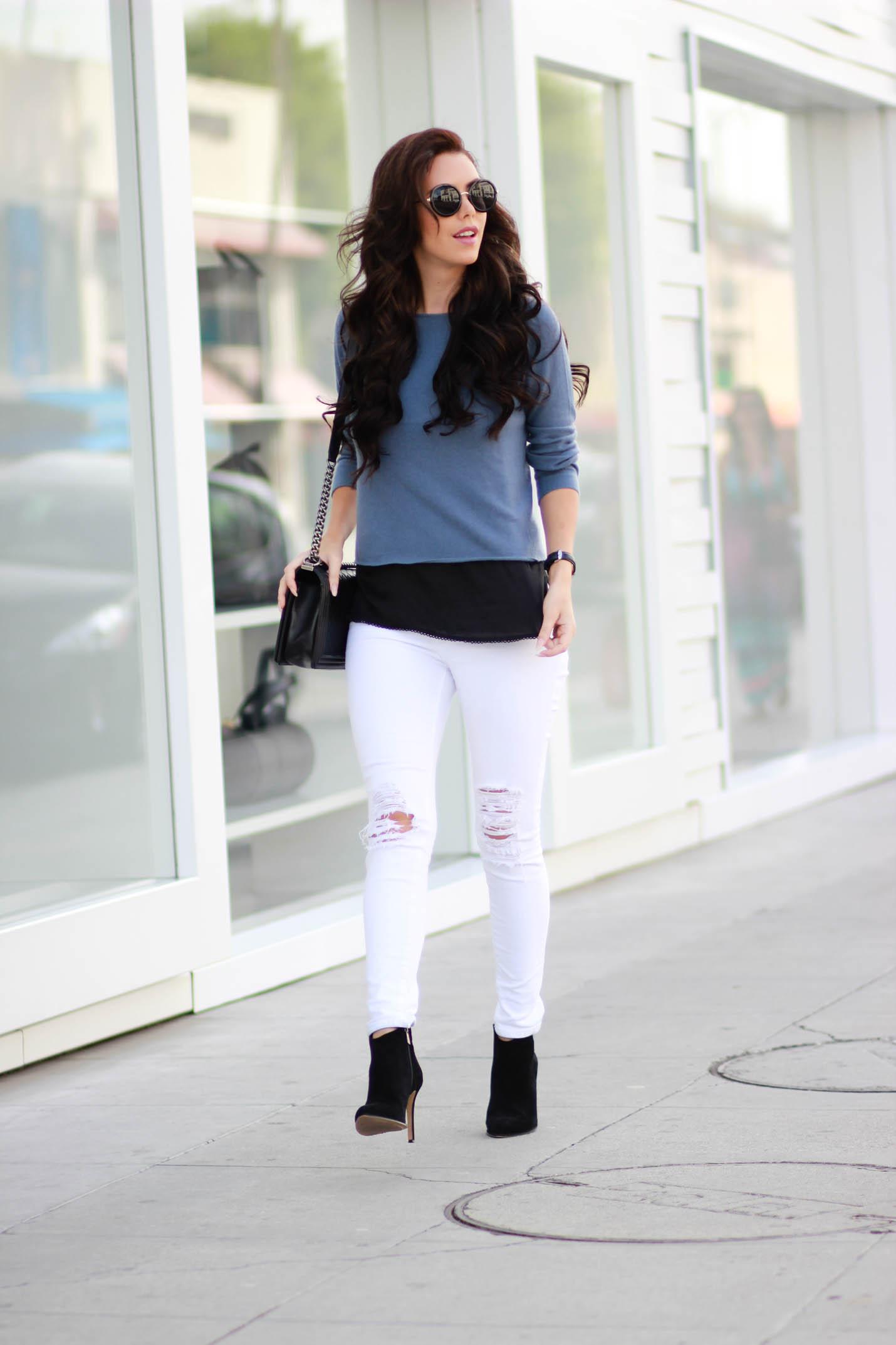 DSTLD white jeans