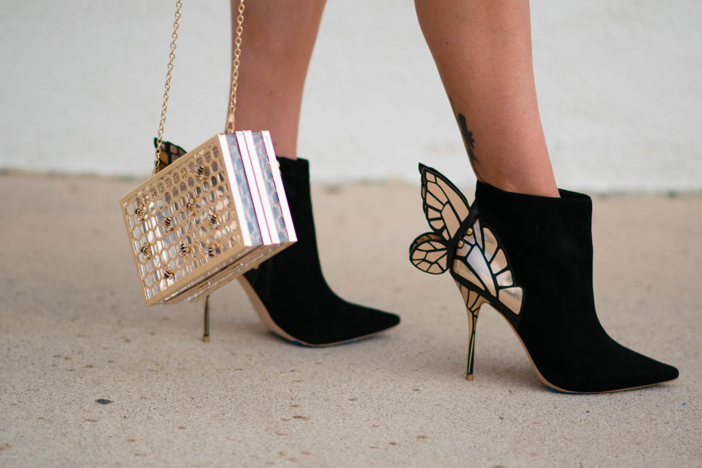 Sophia Webster butterfly booties