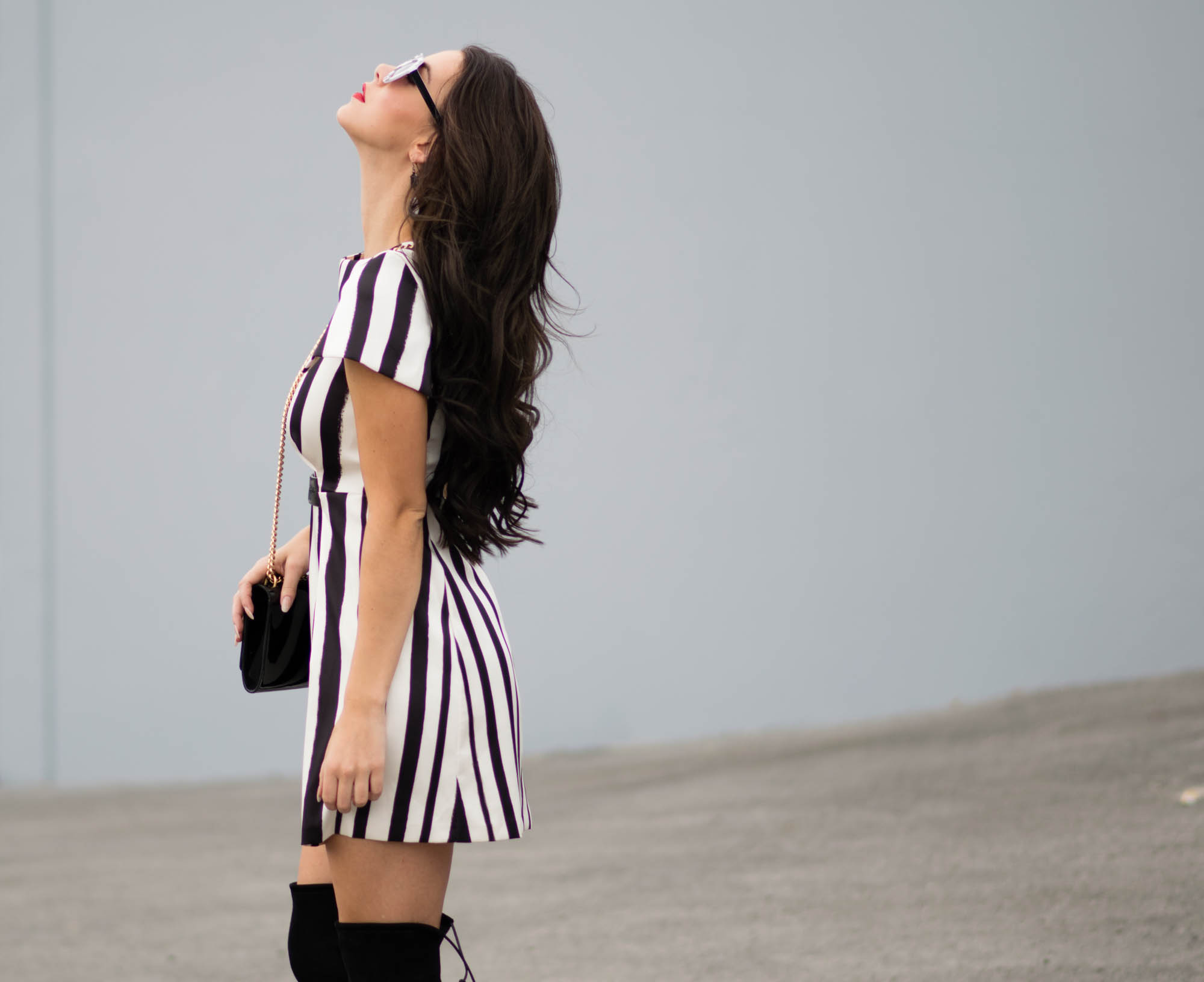 Topshop striped dress