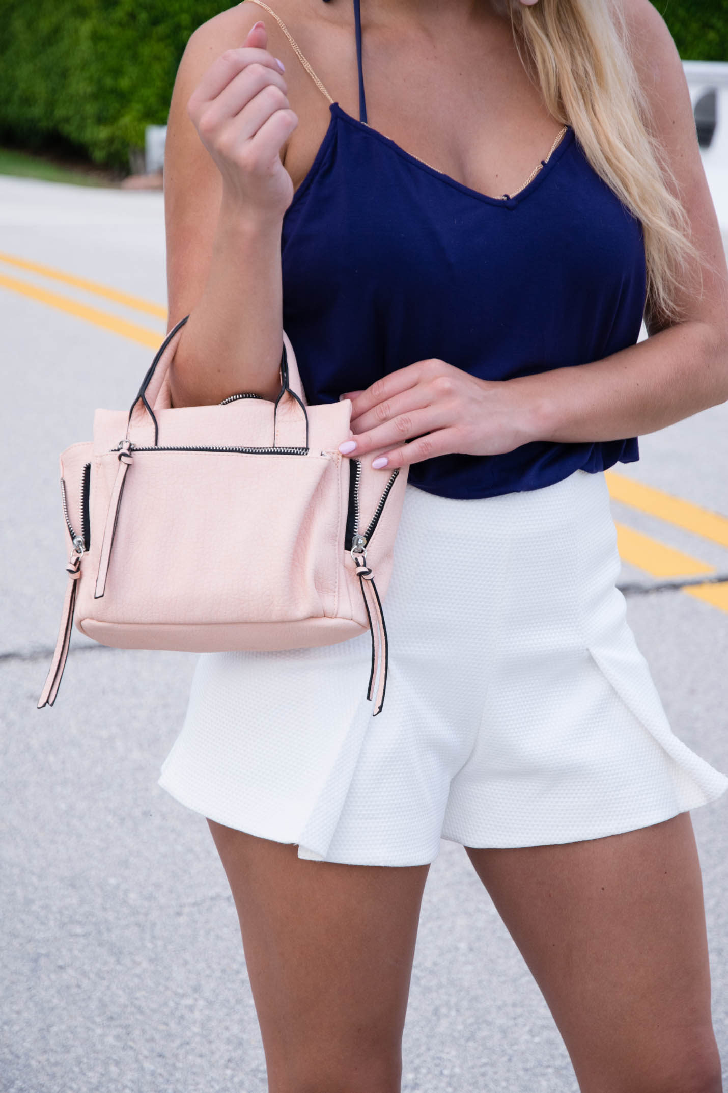 violet ray peach mini amber satchel
