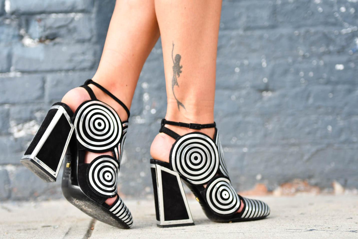 Kat Maconie Silver spiral frida shoes