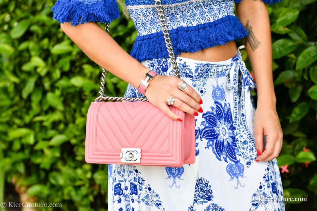 Pink Chevron Chanel Boy Bag
