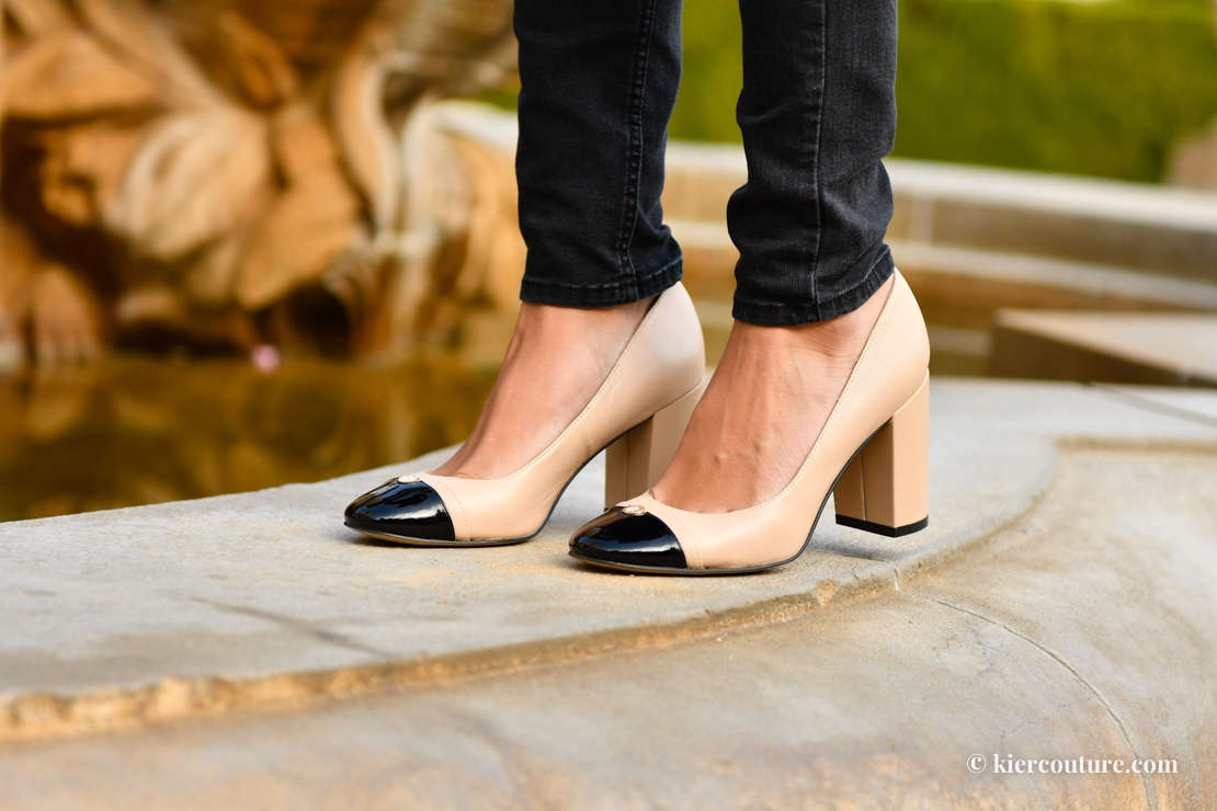 Cap toe pumps