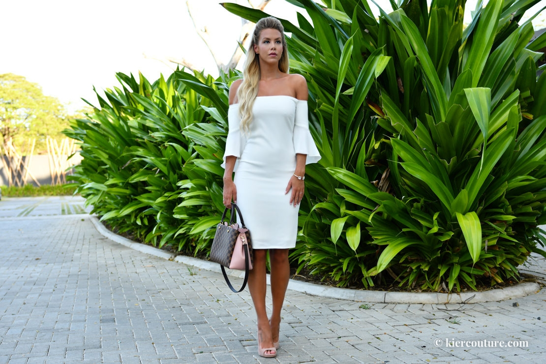 Kier Couture white off shoulder dress