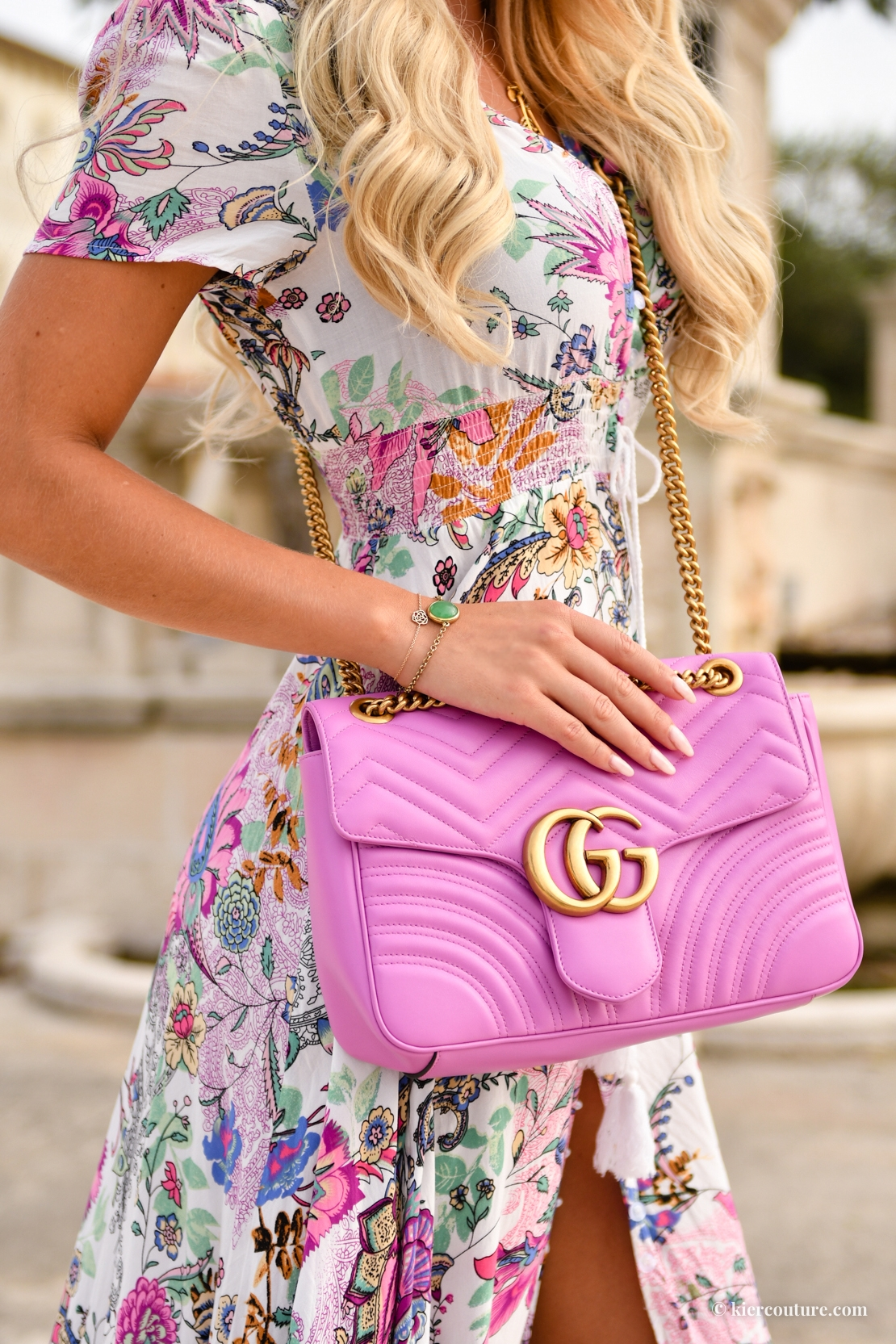 pink gucci flap bag