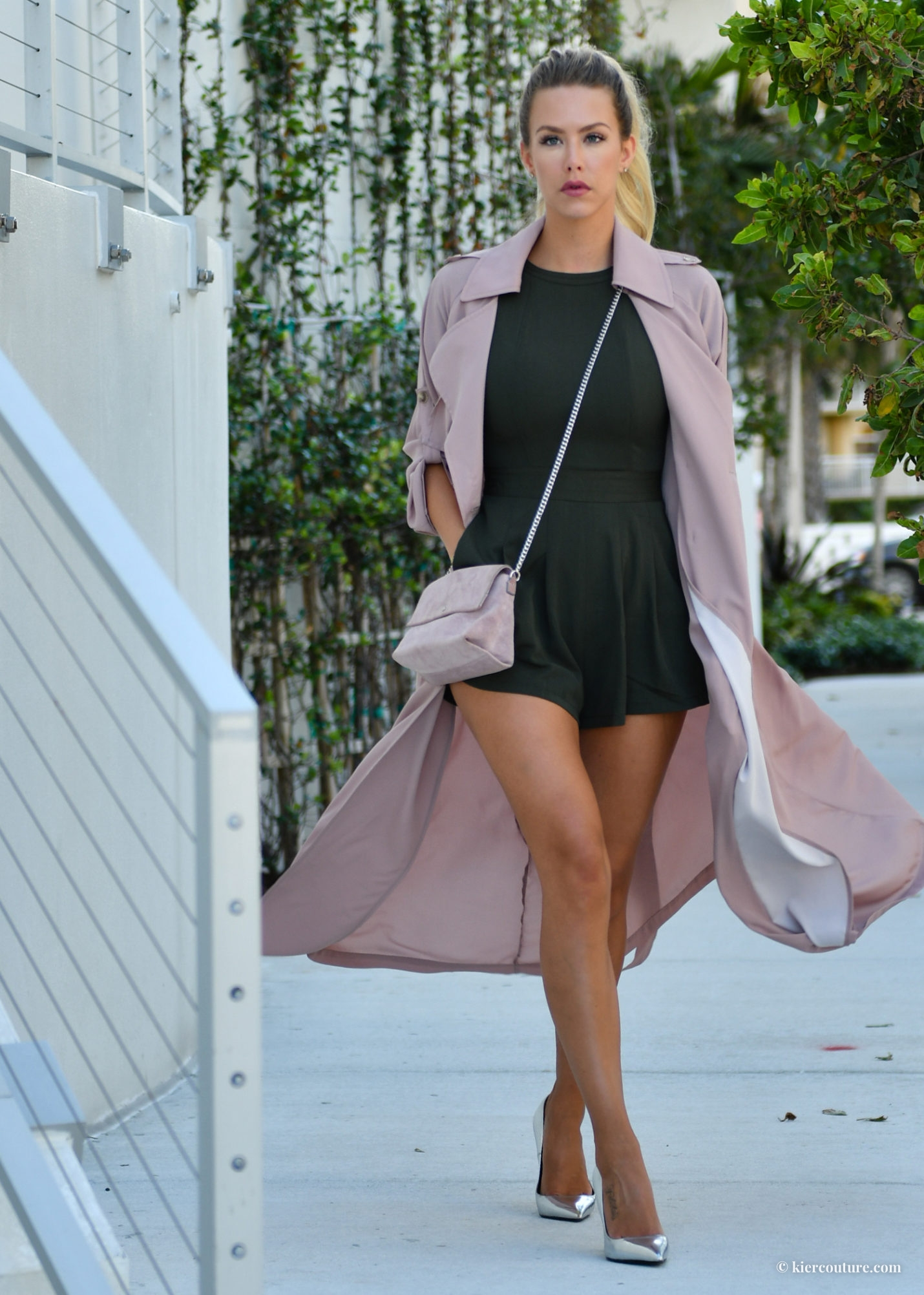 mauve soft trenchcoat