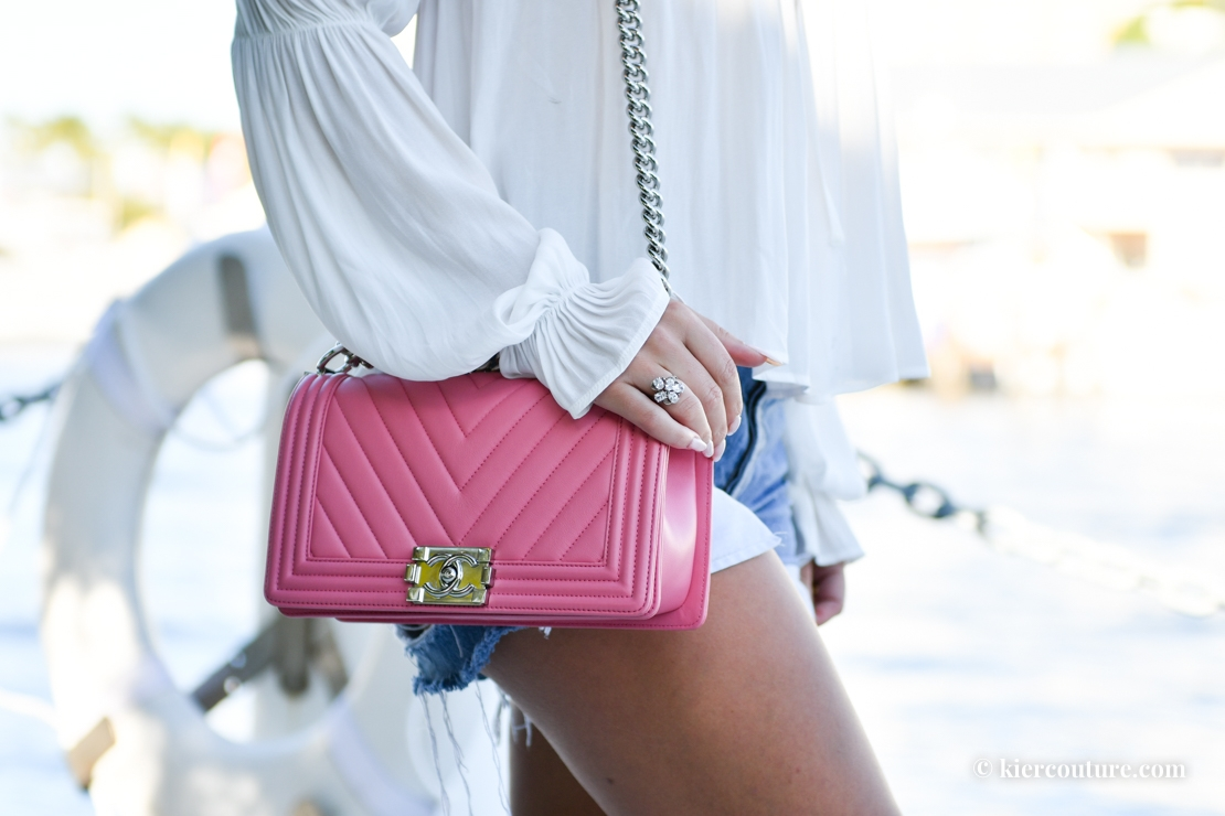 pink chanel boy bag