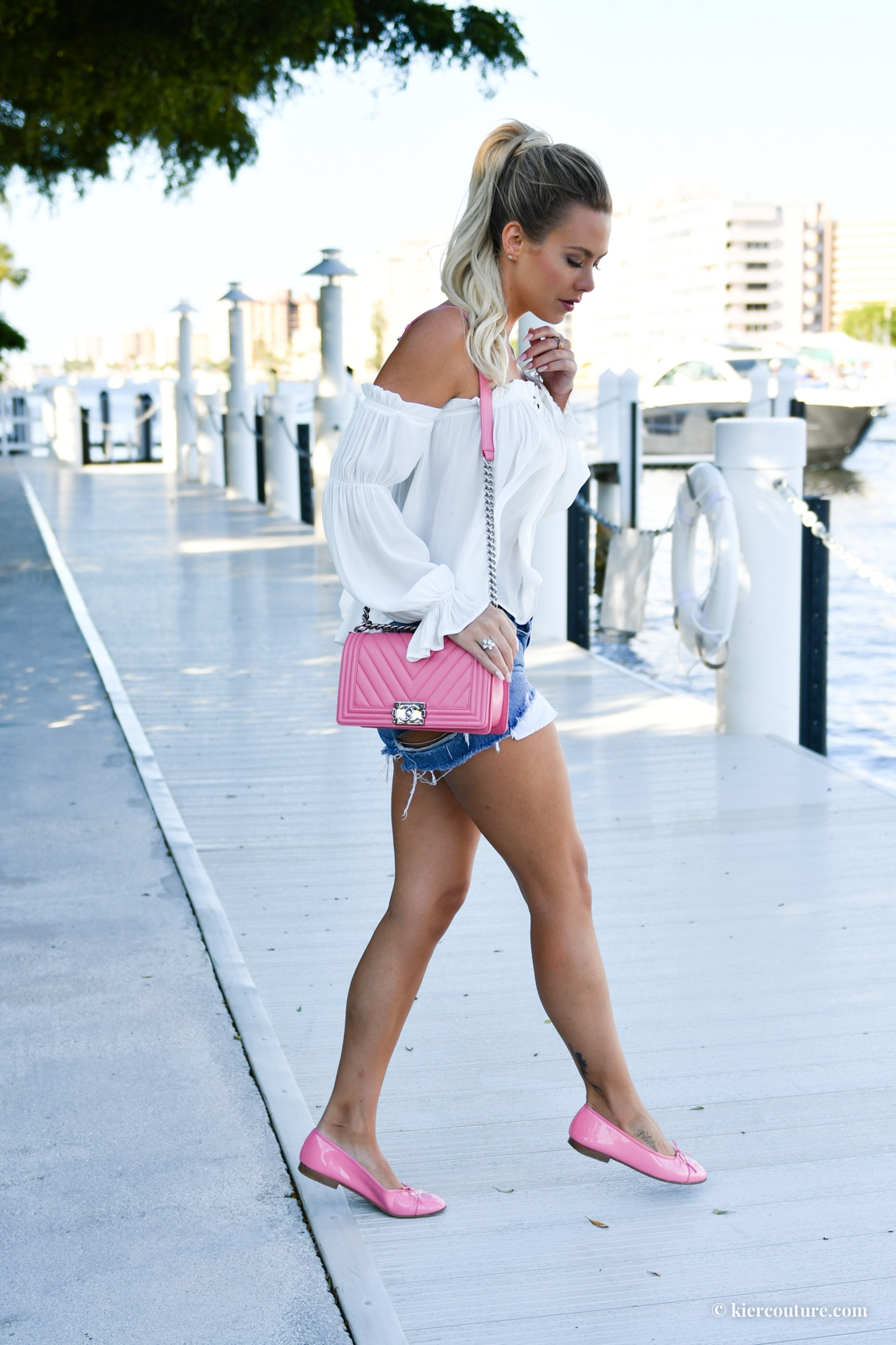 pink chanel flats