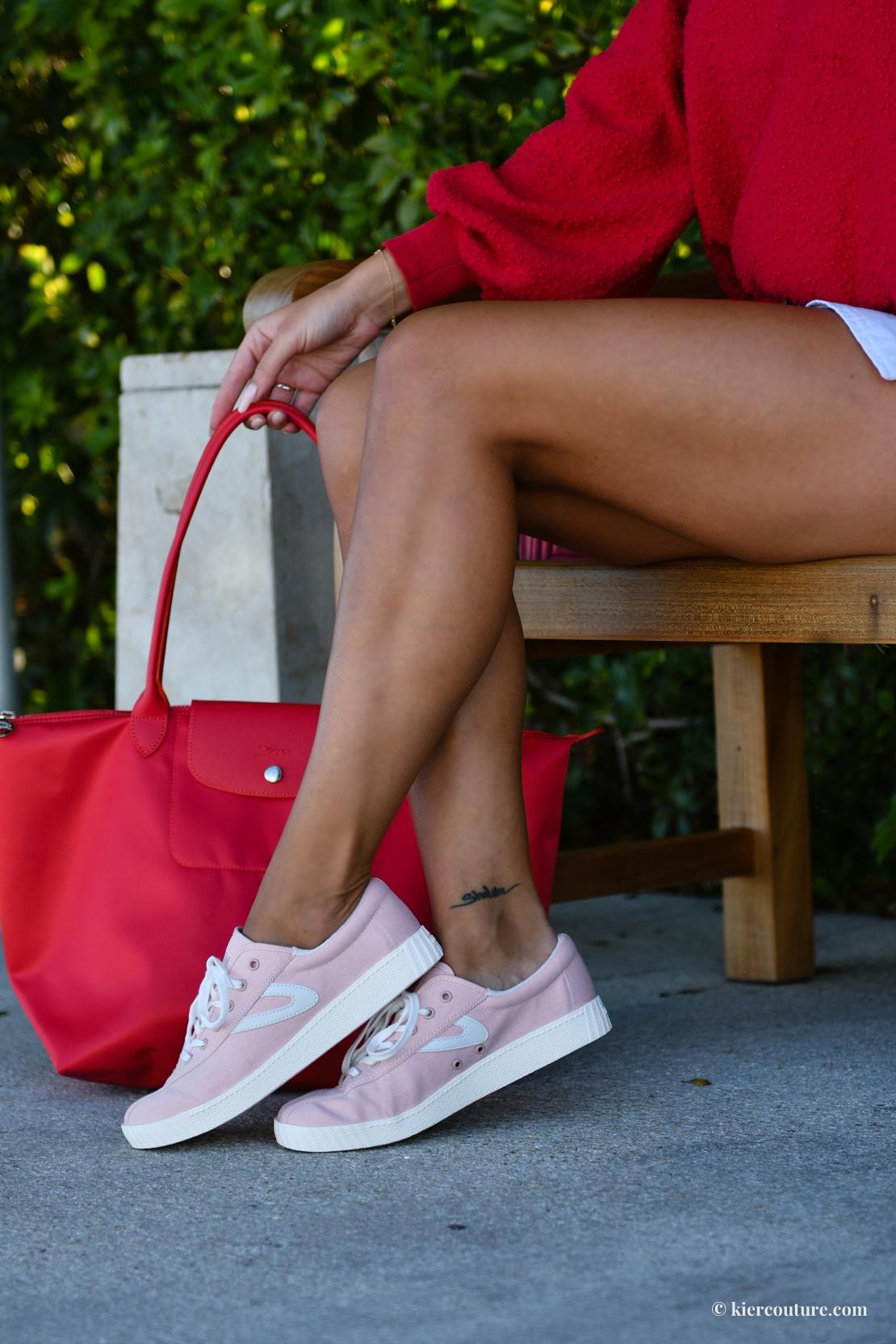 pink tretorn sneakers