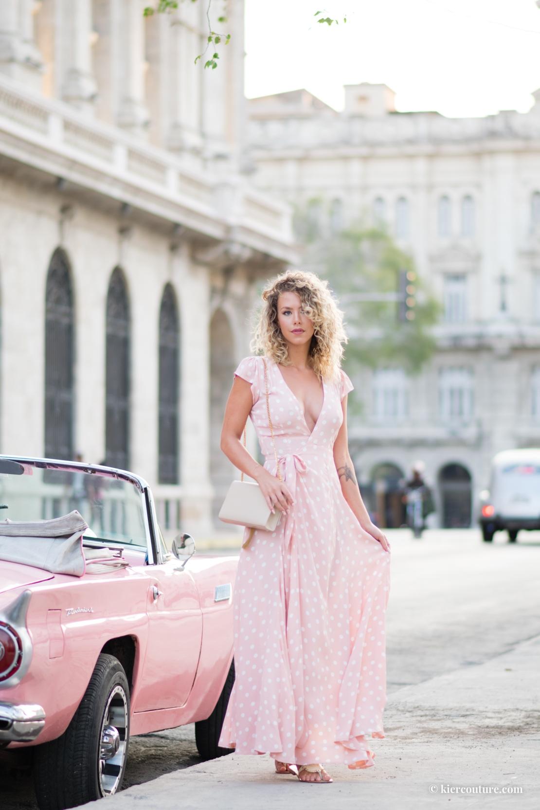 pink car in havana
