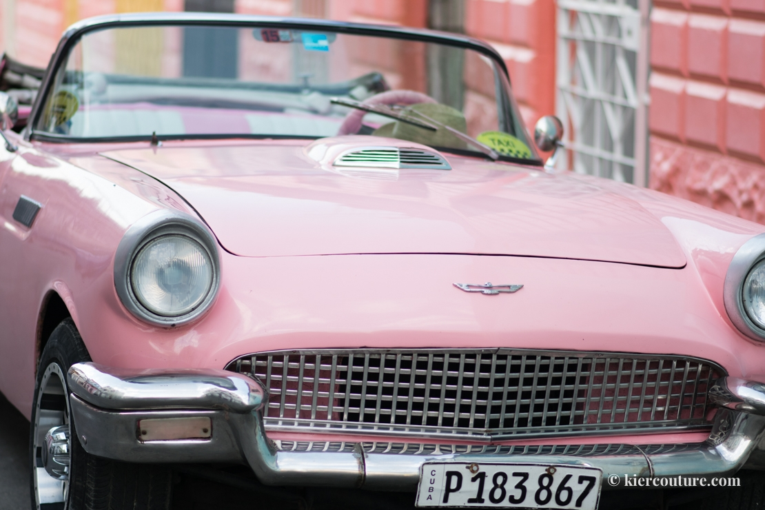 pink thunderbird car