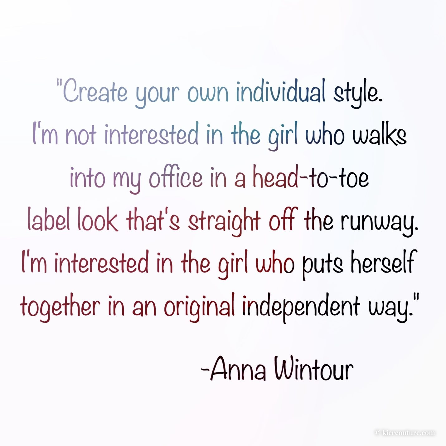 anna wintour individual style quote