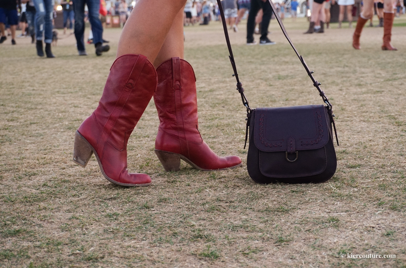 red cowgirl boots by Jessica Simpson at Stagecoach