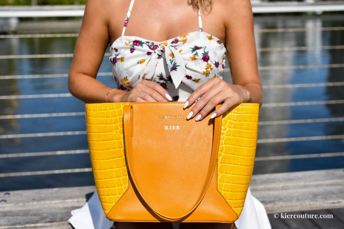 Yellow lenox tote