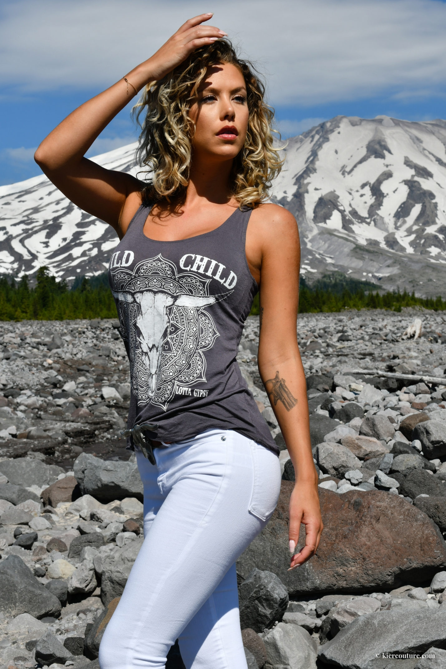 Kier Mellour at Mount Saint Helens