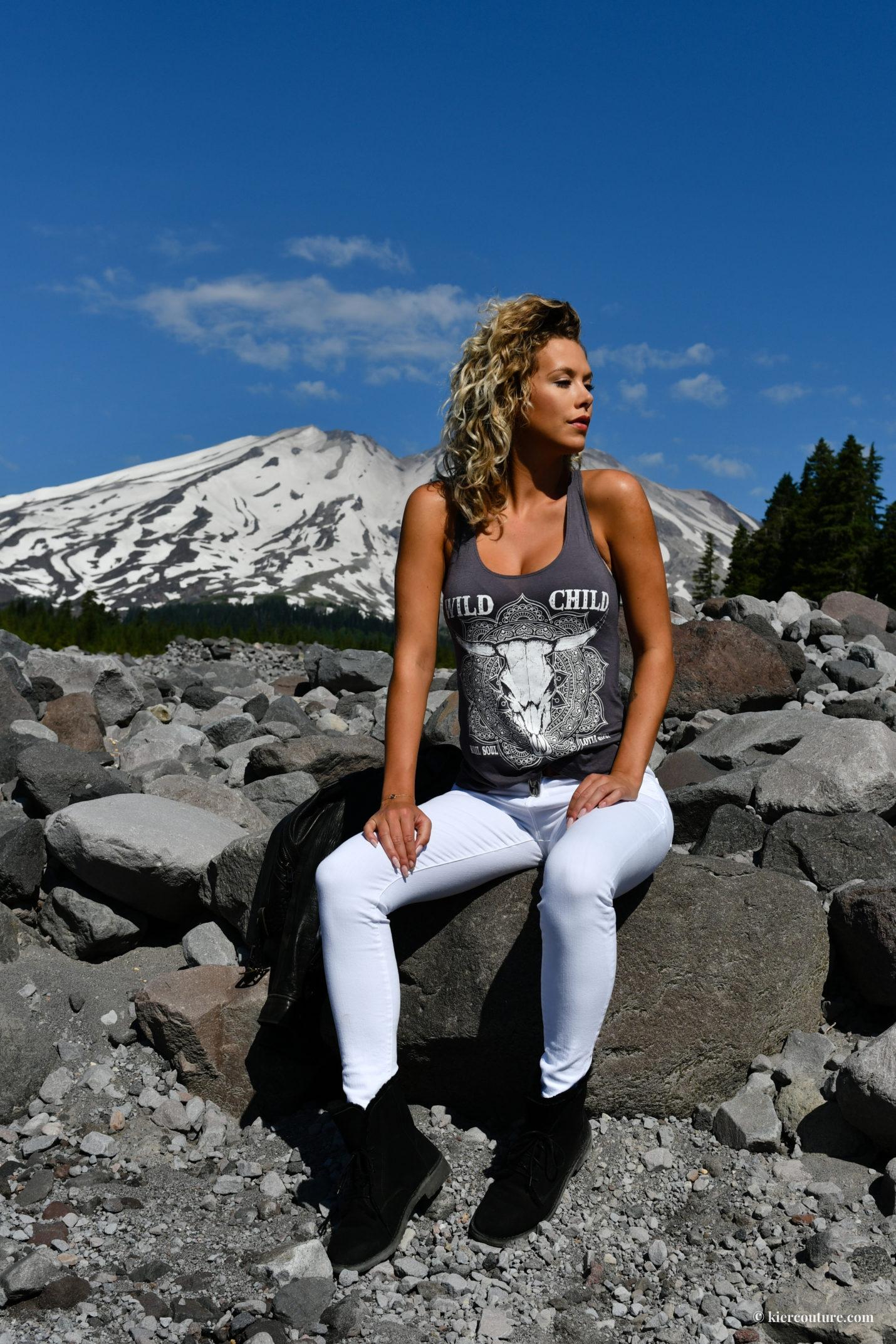 Kier Mellour at Mount St Helens