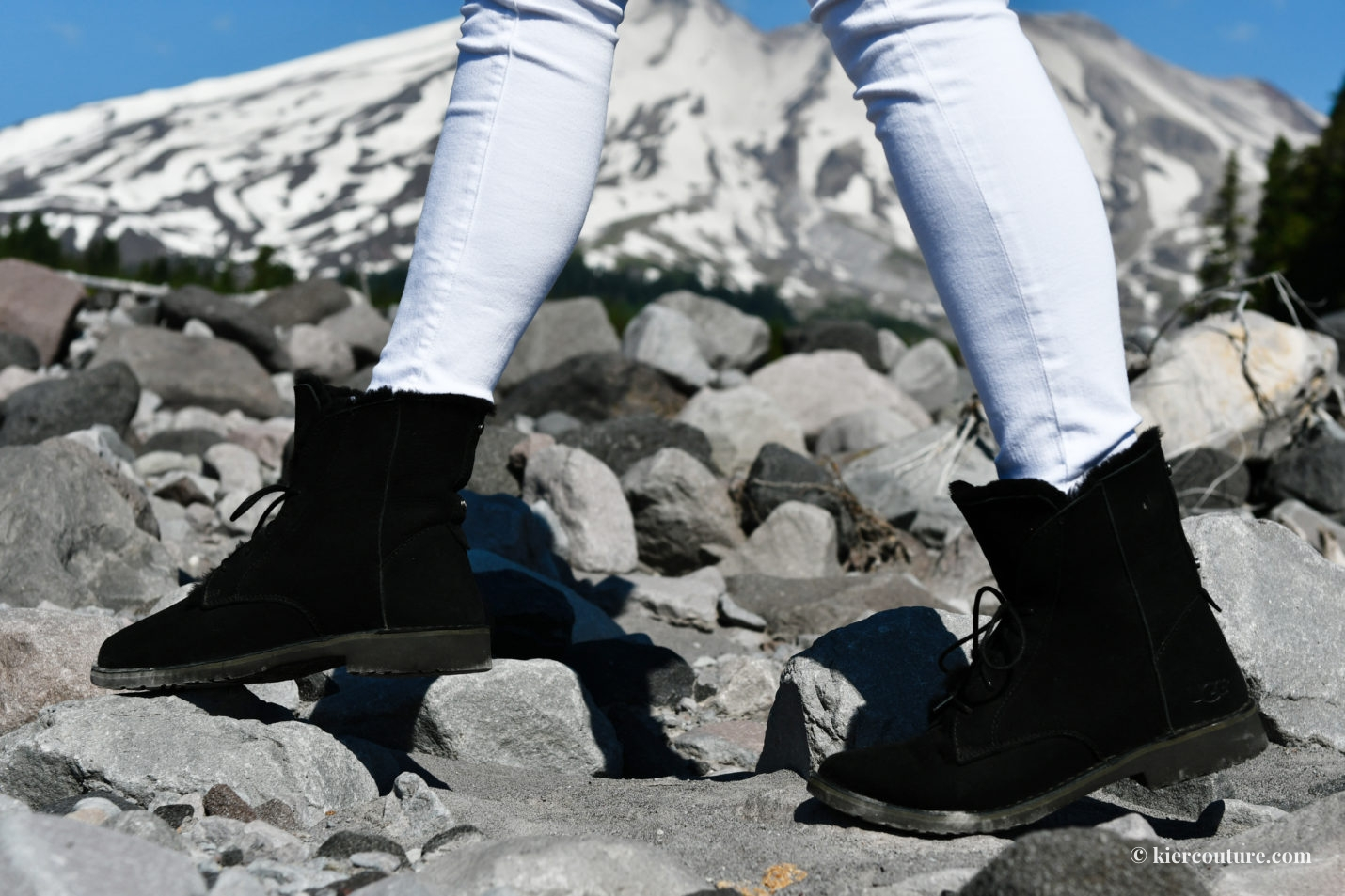UGG Quincy boot in black at Mount St Helens