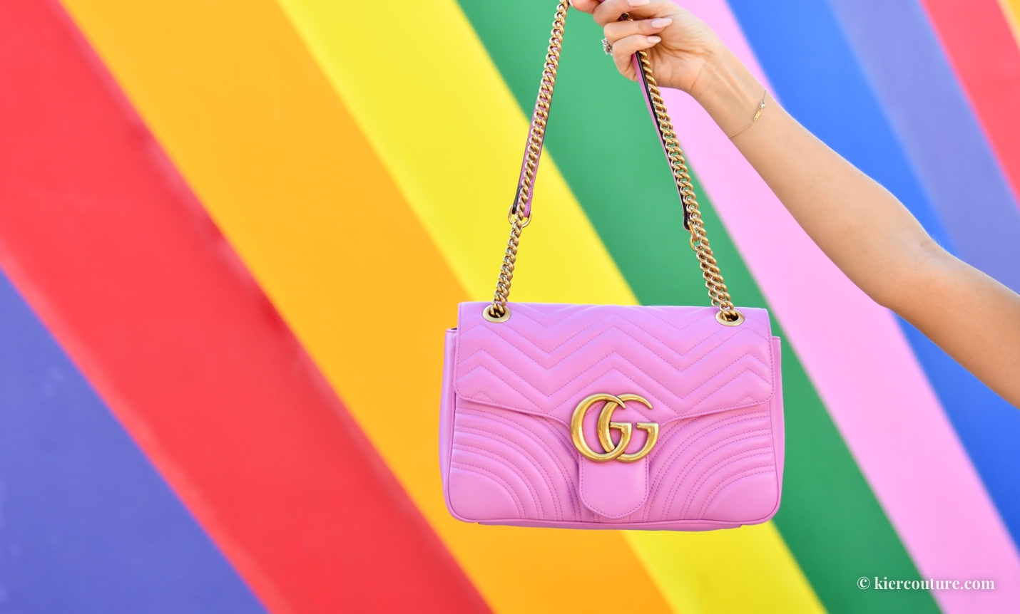 pink gucci marmont bag