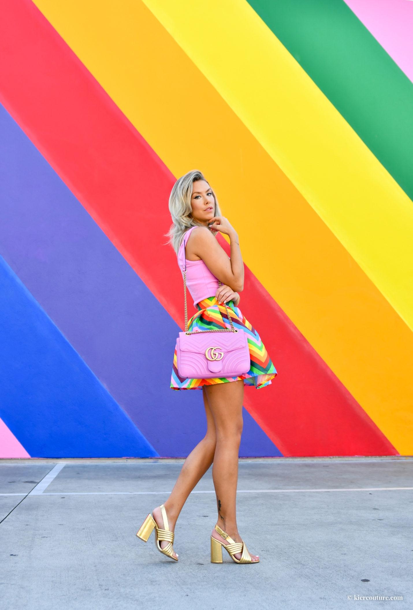 rainbow wall in LA