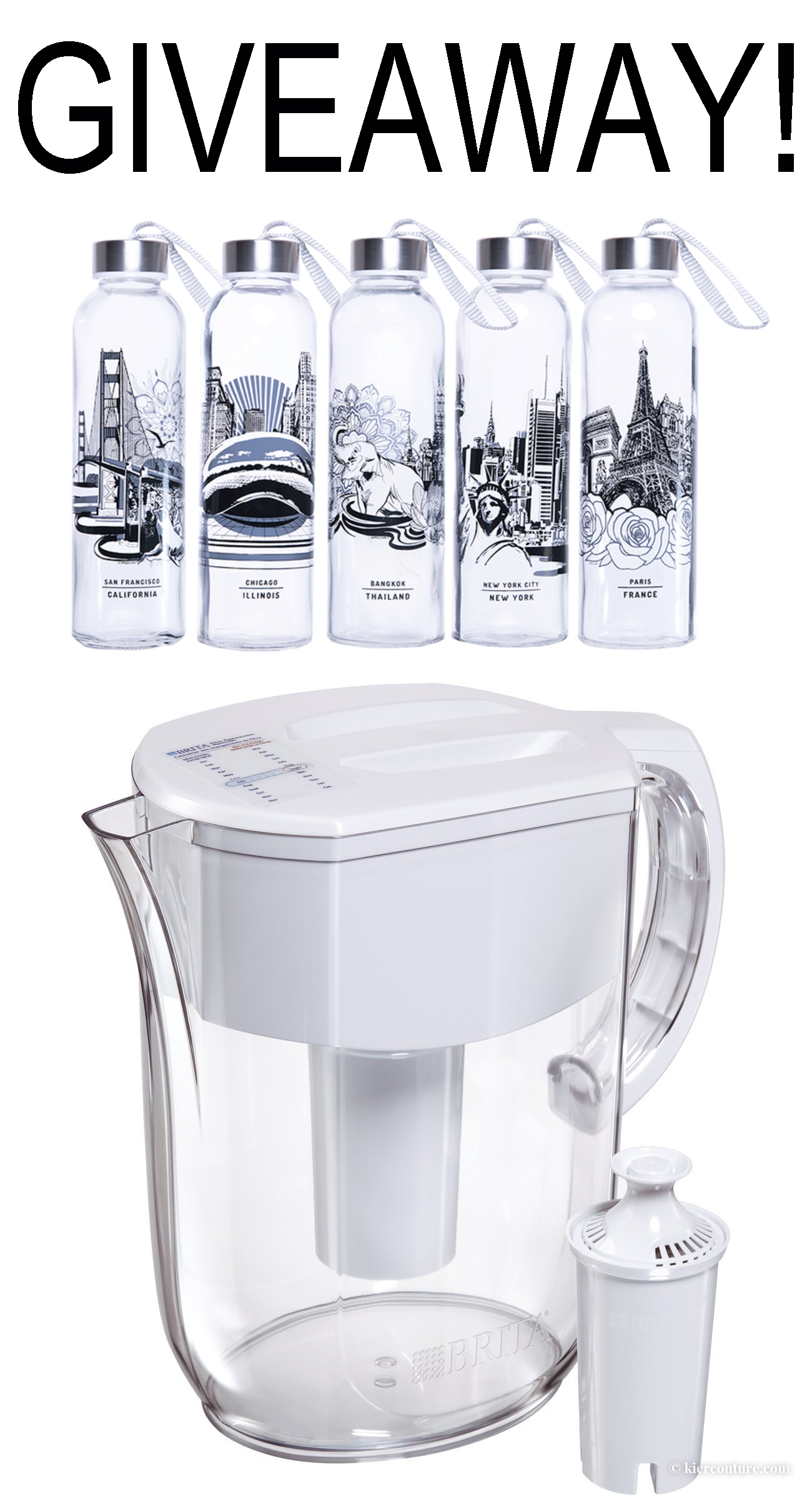 TRAVEL BOTTEL AND BRITA GIVEAWAY