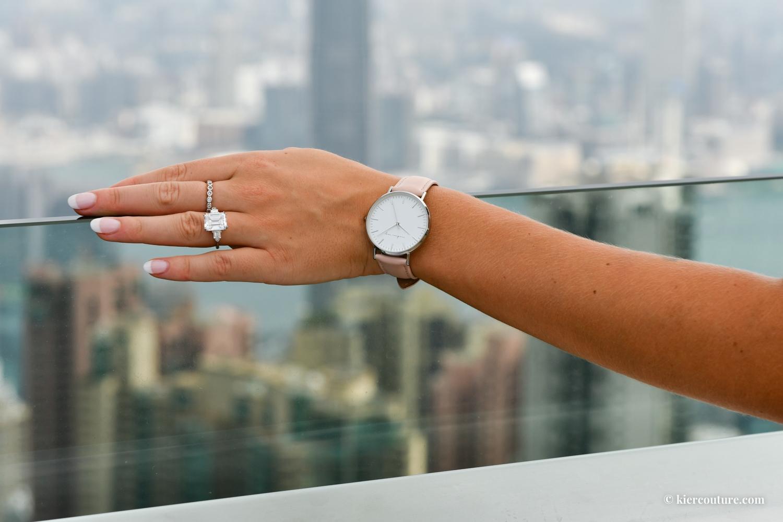 Reuben Ray Watch and Emerald Cut Diamond ring