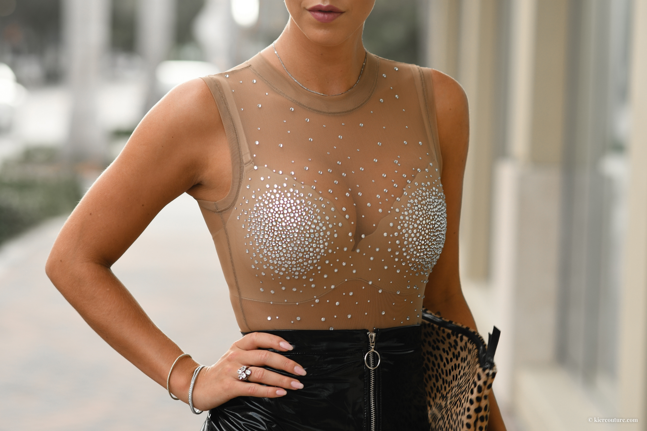 Good body suit show girl crystal embellished