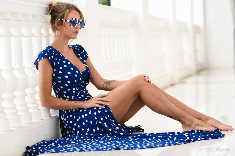 Polka Dot Maxi Wrap Dress