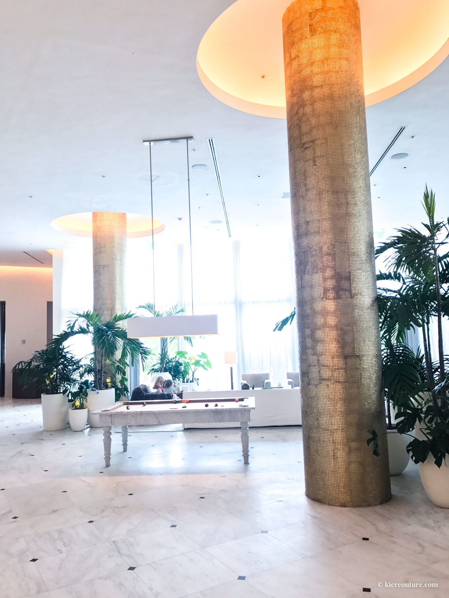 Miami beach edition hotel lobby