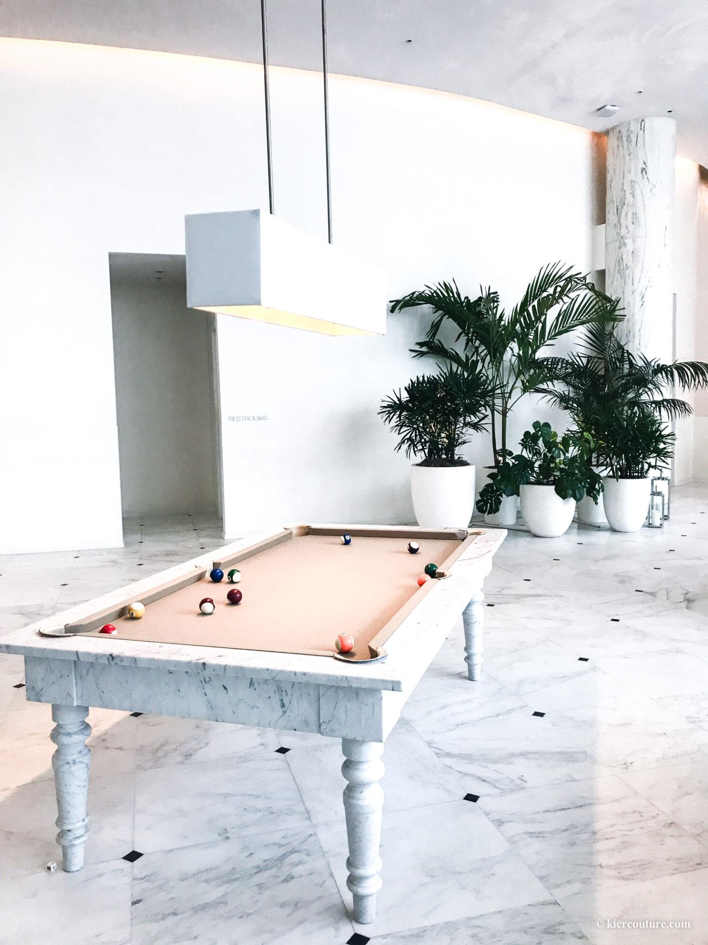 Miami beach edition hotel lobby