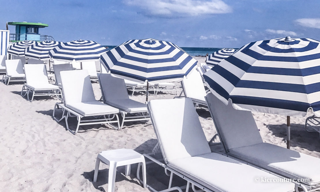 striped umbrellas