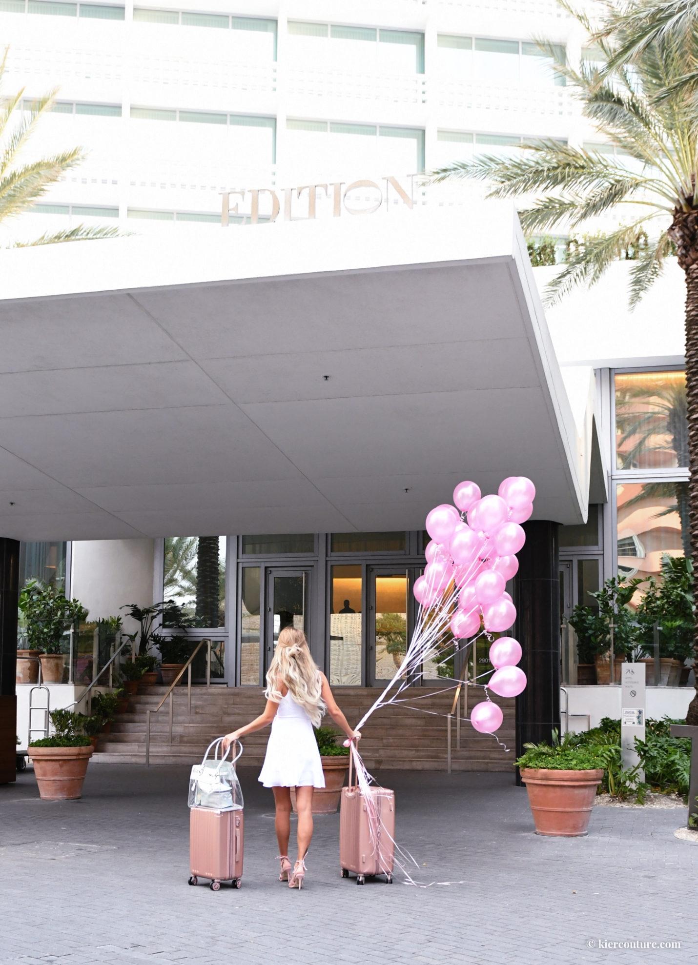 Miami beach edition girl balloons