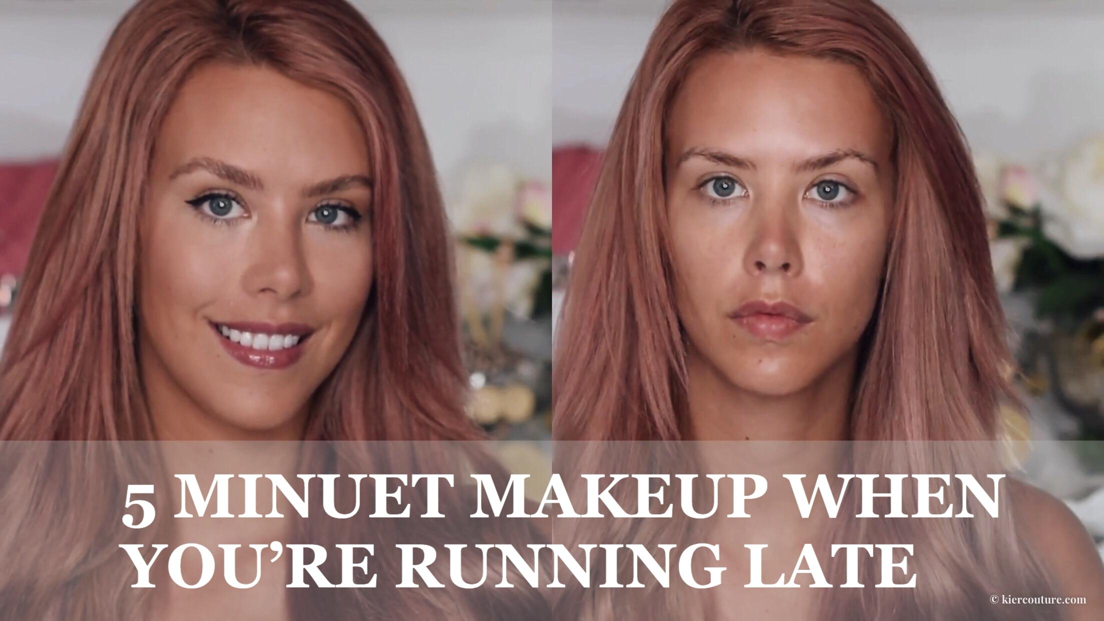 Kier Mellour 5 minute makeup