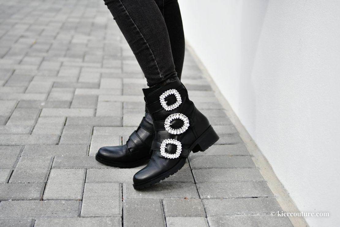 embellished moto boots