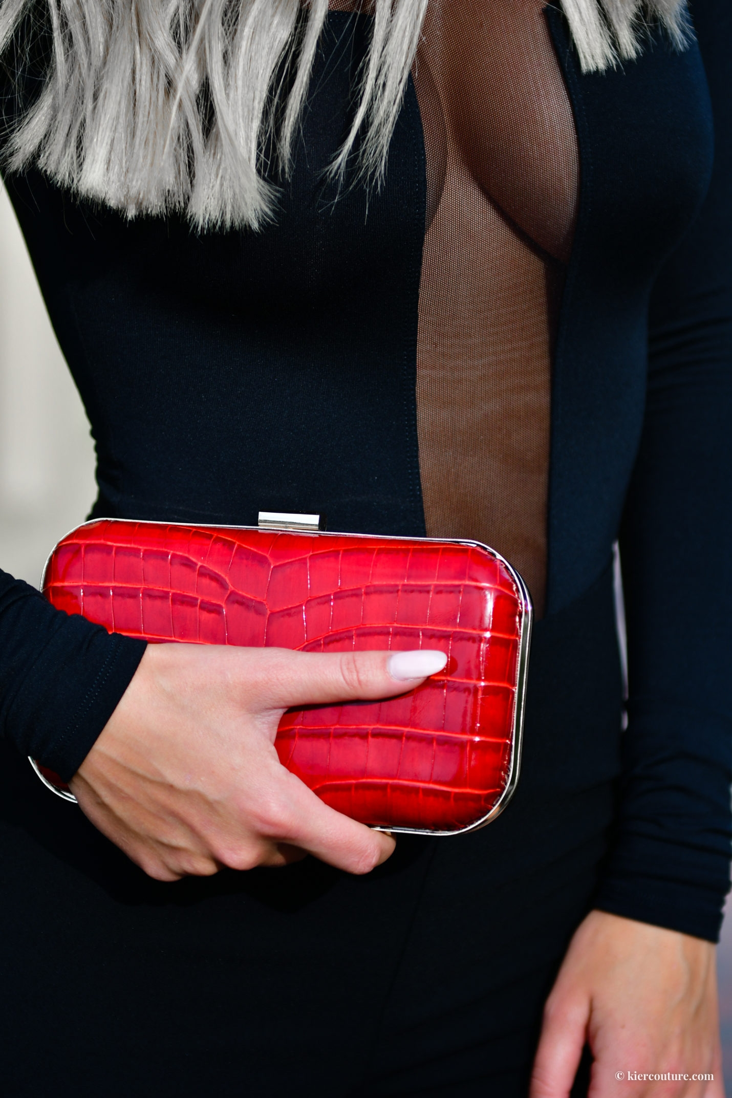 red rose clutch FW style
