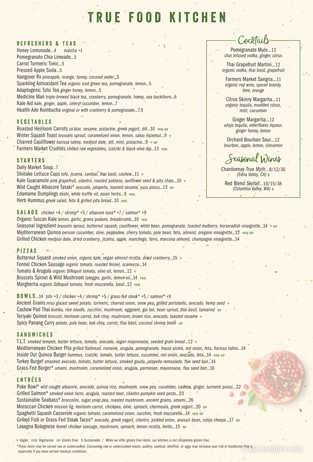 True Food Kitchen Boca Menu
